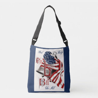 Vintage Americana Liberty Bell & US Flag tote