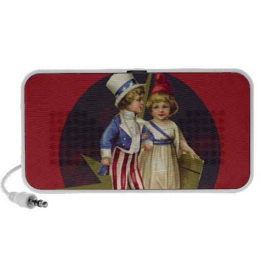 Vintage Americana Mini Speakers