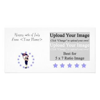 Vintage Americana Photo Card Template
