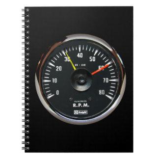 Vintage Analog Auto Tachometer Notebook