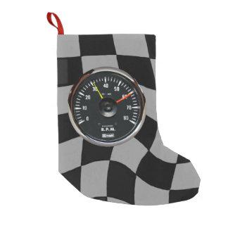Vintage Analog Auto Tachometer Racing Small Christmas Stocking