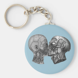 Vintage Anatomical Head kissing Keychain