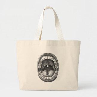 Vintage Anatomical Mouth Large Tote Bag