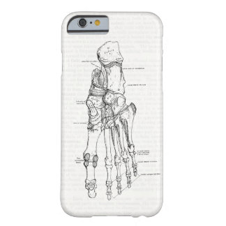 Vintage Anatomy Art Bones of the Foot Barely There iPhone 6 Case