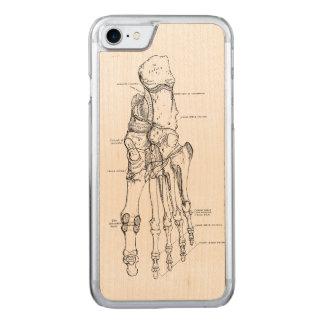 Vintage Anatomy Art Bones of the Foot Carved iPhone 7 Case