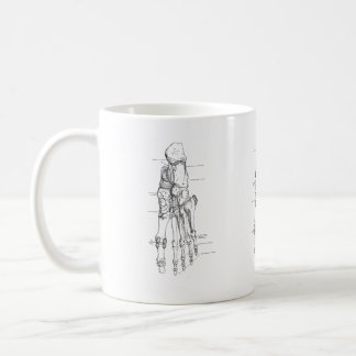 Vintage Anatomy Art Bones of the Foot Coffee Mug