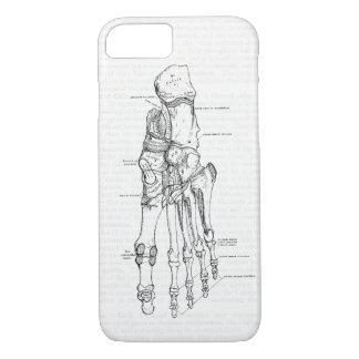 Vintage Anatomy Art Bones of the Foot iPhone 7 Case