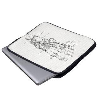 Vintage Anatomy Art Bones of the Foot Laptop Computer Sleeves