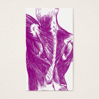Vintage Anatomy   Back Muscles   Purple