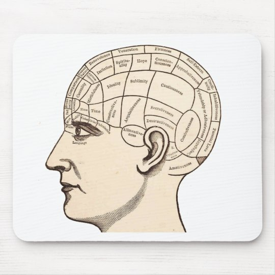 Vintage Anatomy Brain Map Image Mouse Mat