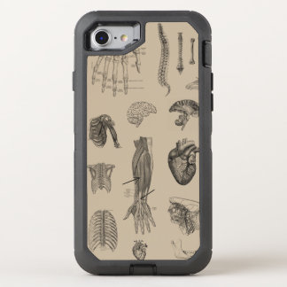 Vintage Anatomy Print OtterBox Defender iPhone 7 Case