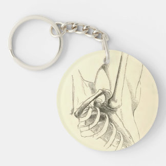 Vintage Anatomy | Shoulder Joint (circa 1852) Single-Sided Round Acrylic Key Ring