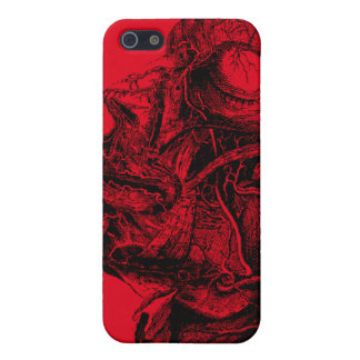 Vintage anatomy style drawing iphone case iPhone 5/5S cases