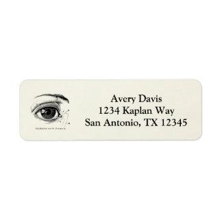 Vintage Anatomy The Human Eye Return Address Label