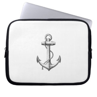 Vintage Anchor laptop sleeve