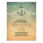 vintage anchor nautical save the date postcards