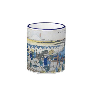 Vintage Ancient Japanese Art Ringer Mug