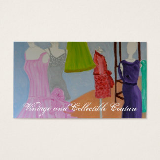 Vintage and Collectible Couture Business Card