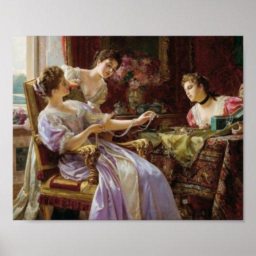 Vintage and Exquisite, Elegant Ladies & Jewellery Poster