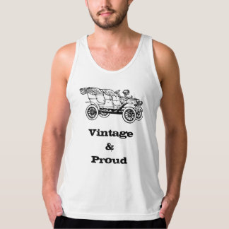 Vintage and Proud Classic Motor Car Illustration Tank Top