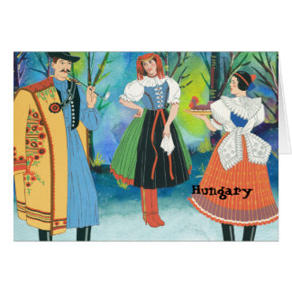 Vintage and Traditional Costumes Hungary Card
