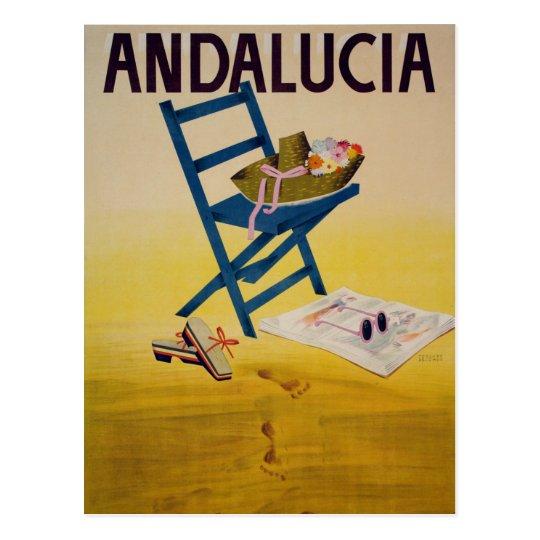 Vintage Andalucia Beach Travel Postcard