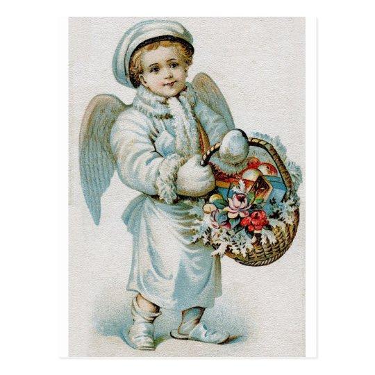 Vintage Angel Boy Postcard