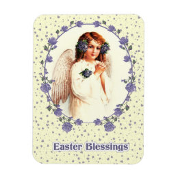 Christian easter home decor pets products zazzle vintage angel christian easter gift magnets negle Image collections