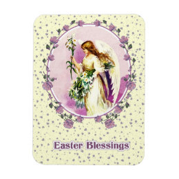 Christian easter refrigerator magnets zazzle vintage angel christian easter gift magnets negle Image collections