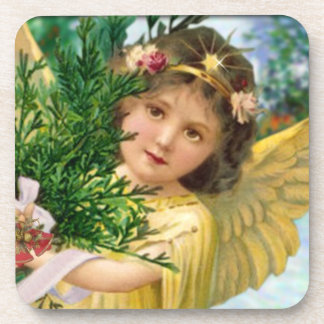Vintage Angel Christmas Coaster Gift Set