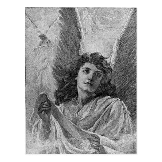 Vintage Angel Christmas Greetings Postcard