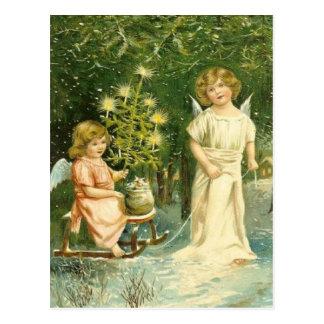 Vintage Angel Christmas Postcard