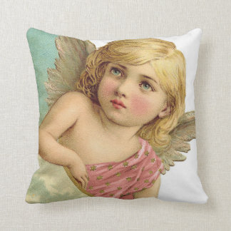 Vintage Angel Girl Accent Pillow