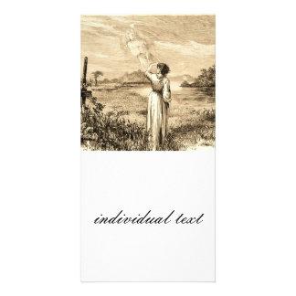 vintage angel customized photo card
