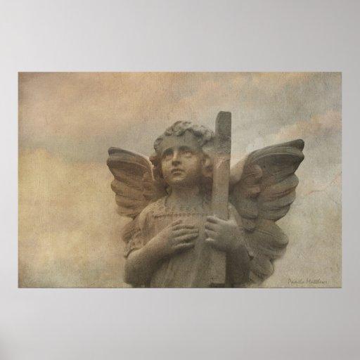 Vintage Angel Poster