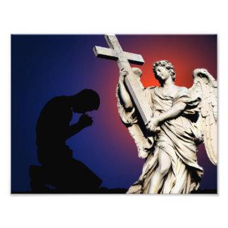 Vintage Angel Statue With Prayer Photo