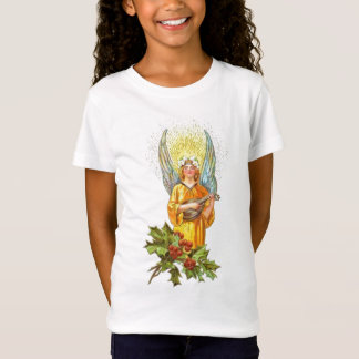 Vintage Angel With holly And Mandolin T-Shirt