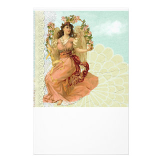 Vintage Angel With Lace 14 Cm X 21.5 Cm Flyer
