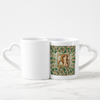 Vintage Angel with Yellow Roses Couple Mugs