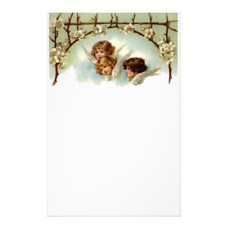 Vintage Angels and Flowers Stationery