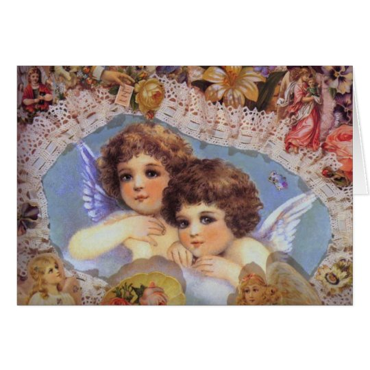 Vintage Angels and Lace Card