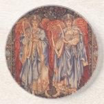 Vintage Angels, Angeli Laudantes by Burne Jones Coaster