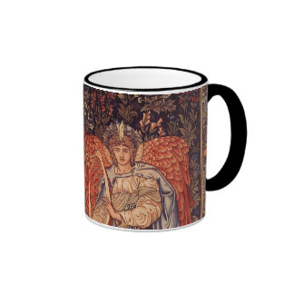 Vintage Angels, Angeli Laudantes by Burne Jones Ringer Mug