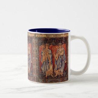 Vintage Angels, Angeli Laudantes by Burne Jones Two-Tone Mug