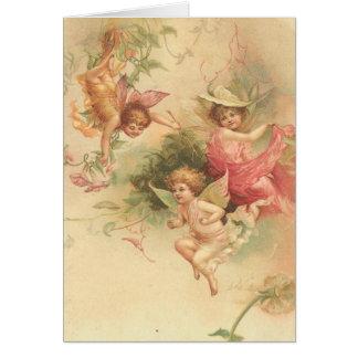 vintage angels card