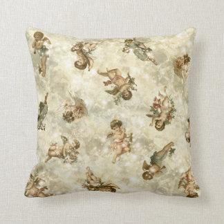 Vintage Angels Glittering Gold ID136 Cushion