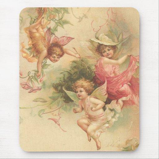 vintage angels mouse pad