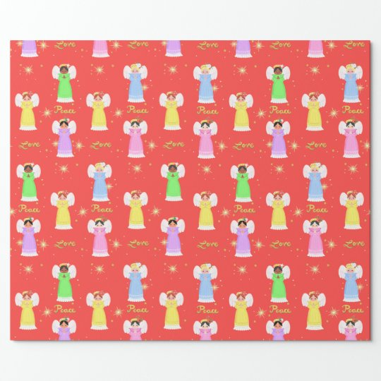 Vintage Angels Wrapping Paper