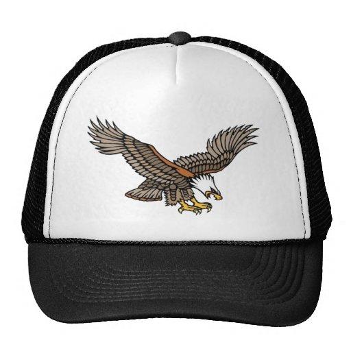 Vintage Angry Eagle Tattoo Art Hat
