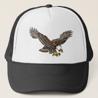 Vintage Angry Eagle Tattoo Art Trucker Hat